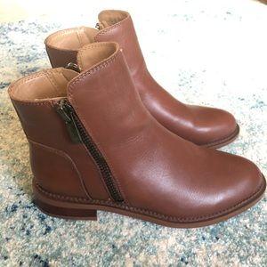 NEW Franco Sarto Brown Leather Booties